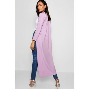 New Boohoo Oversize Lilac Kimino Duster Stretch
